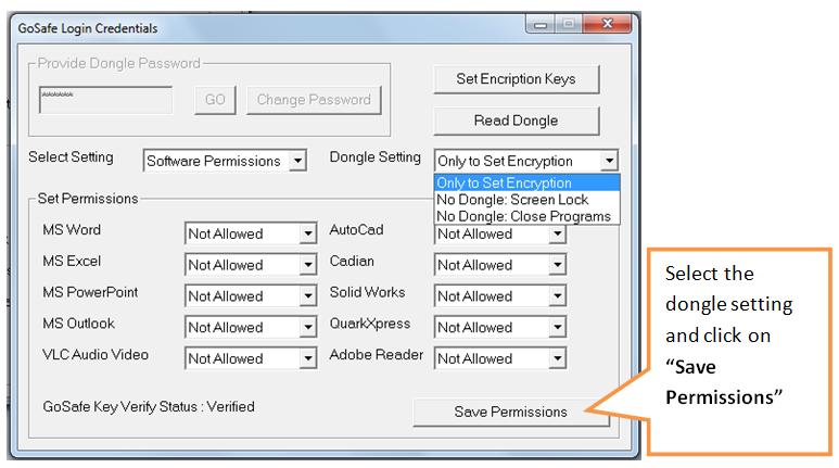 save permissions