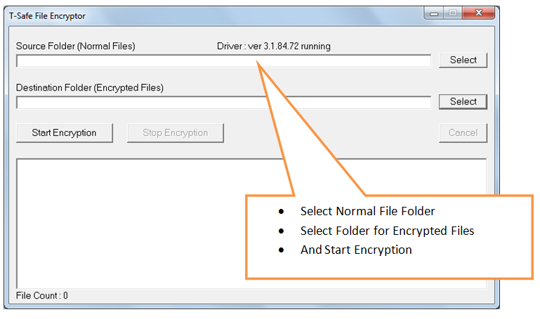 select source and destination folders