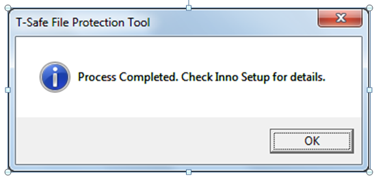 installer created success message