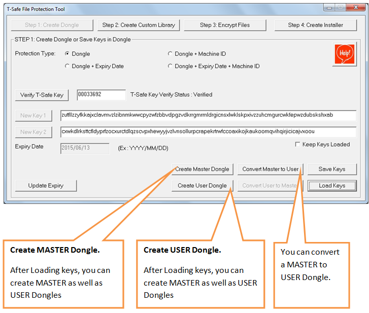 create user dongle/ convert master to user