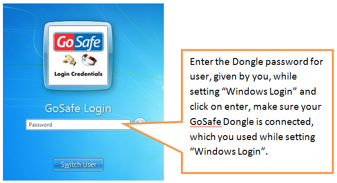 enter dongle password for user