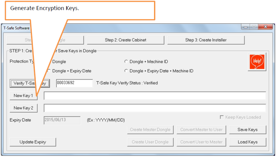 Generate Encryption keys