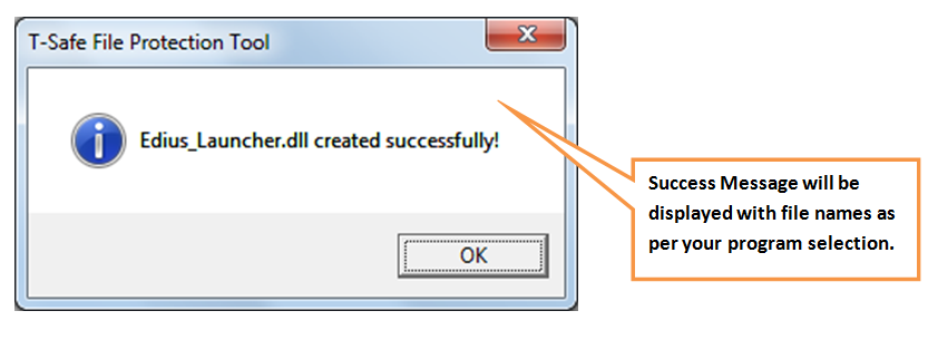 dll creation success message