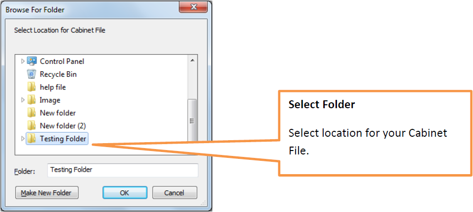Select an Empty folder