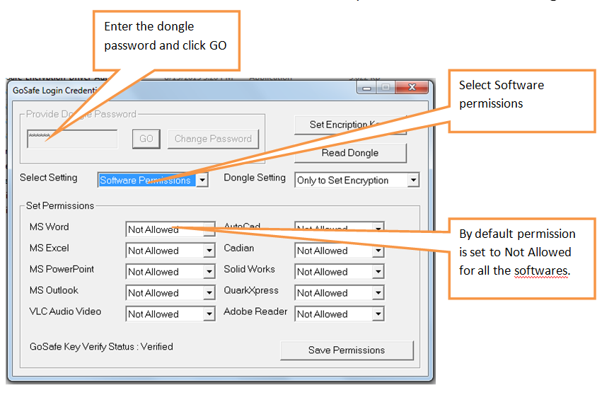 Select Software Permissions