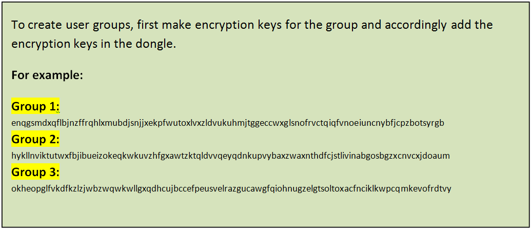 example of keys