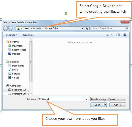 select Google Drive folder