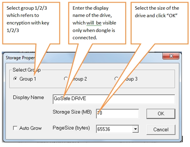 select group and storage size